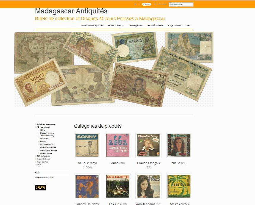 Billets de collection et Disques 45 tours Pressés à Madagascar